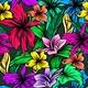 """Силиконовый чехол для Meizu E3 """"Тропические цветы 1"""" - интернет-магазин чехлов endorphone.com.ua"""