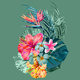 """Чехол для iPhone 11 Pro Max """"Тропические цветы v1"""" - интернет-магазин чехлов endorphone.com.ua"""