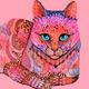 "Чехол для iPhone 11 Pro Max ""Узорчатая кошка"" - интернет-магазин чехлов endorphone.com.ua"