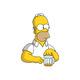"""Чехол для iPhone 5 """"Задумчивый Гомер. Симпсоны"""" - интернет-магазин чехлов endorphone.com.ua"""